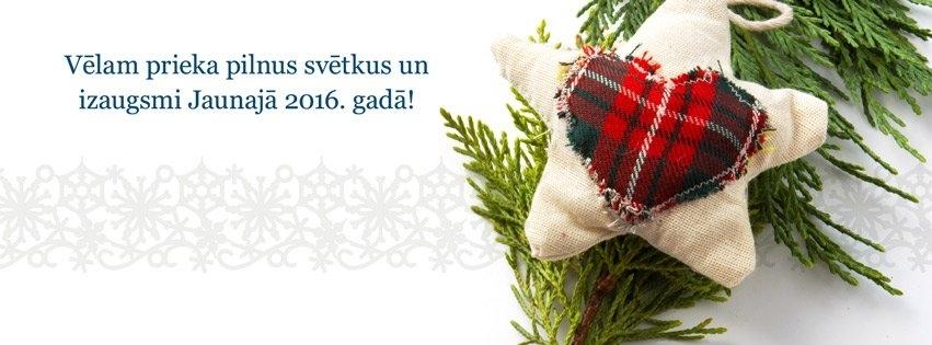 Vēlam prieka pilnus svētkus un izaugsmi Jaunajā 2016. gadā!