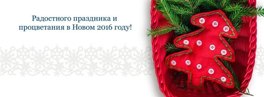 Радостного праздника и процветания в Новом 2016 году!