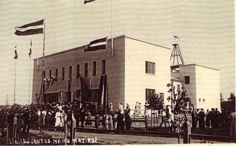 Открытие Народного дома ливов 6 августа 1939 года